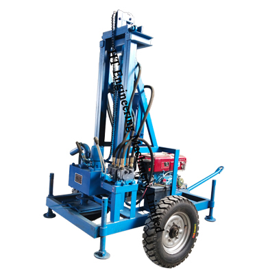 Small Water Well Mobile Percuss Drill Rig For Sale