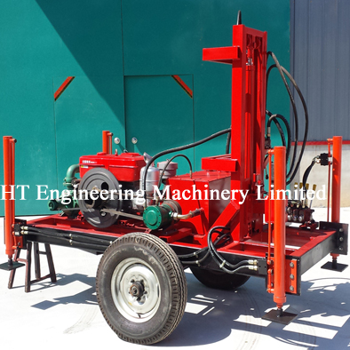 Trailer Mount Mobile Water Well Drill Rig For Sale