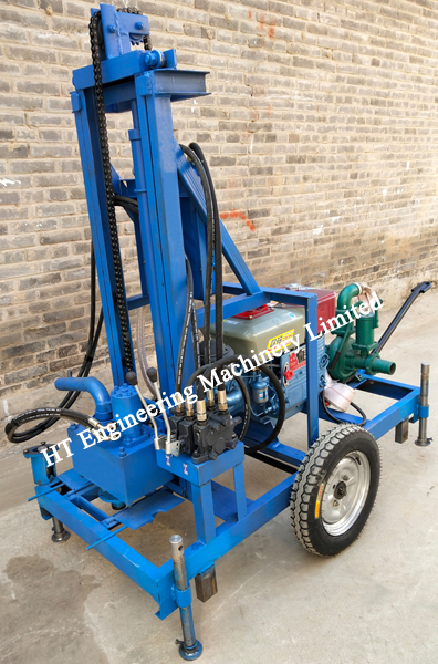Small Portable Water Well Drilling Rig Machine